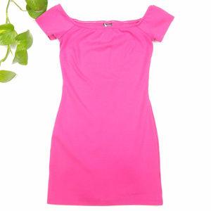 Sparkle & Fade UO Pink Off Shoulder Dress Size S